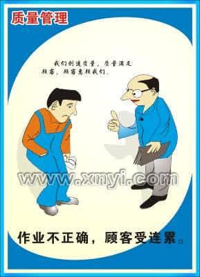 品质管理挂图 质量管理海报 质量管理 品质海报 质量挂图 车间挂图