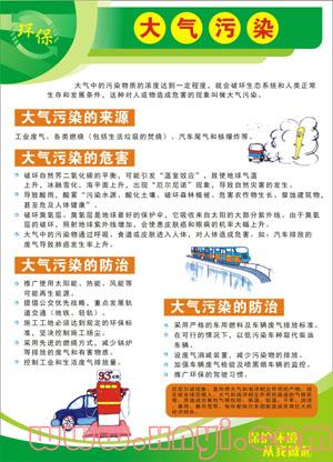 大气污染;; 保护环境的宣传标语;