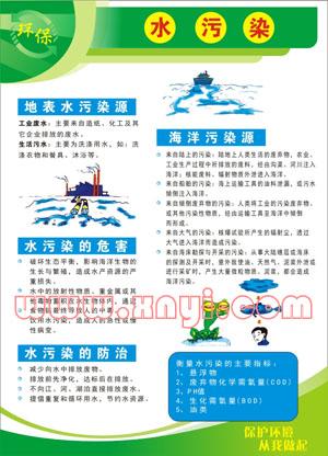 水污染; 环境保护宣传挂图