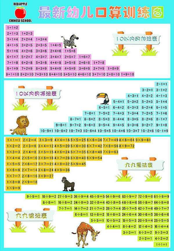 FH02 最新幼儿口算训练图