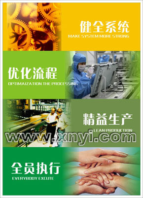 健全系统、优化流程、精益生产、全员执行。
