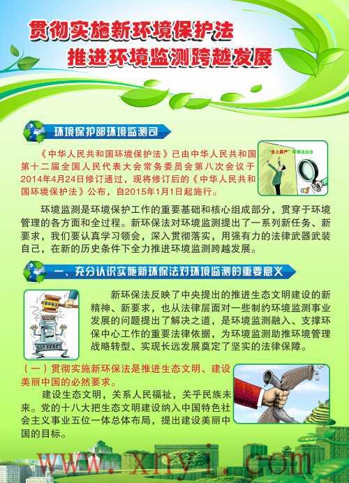 贯彻实施新环境保护法挂图