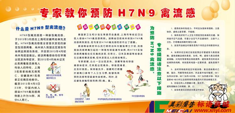 H7N9禽流感宣传栏