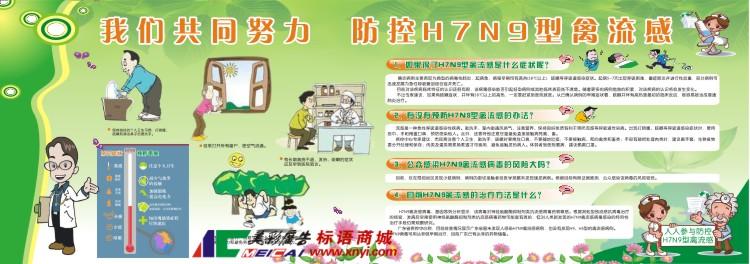 预防H7N9禽流感科普宣传栏