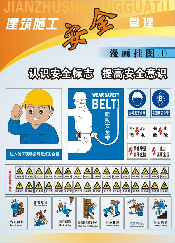 建筑施工安全挂图